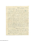 Antiques:Black Americana, Runaway Slave Who Begged His Master to Take Him Back February 12,1845 letter commenting on a runaway slave who begged his ...