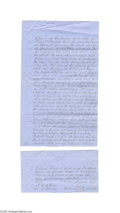 Antiques:Black Americana, Slaves in Trade for Cotton 1852 Anderson County, Texas, ManuscriptDocument January 2, 1852, lending of four slaves, Anders...