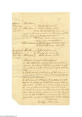 Antiques:Black Americana, Use of Slaves as Collateral in 1858 Texas Court Document October16, 1858, Negroes used as collateral, Gonzales County, Tex...