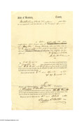 Antiques:Black Americana, 1860 Kentucky Slave Document, Fayette County A stark reminder of asad period in our country's history. Offered here is a p...