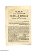 "Antiques:Black Americana, ""The Opinions Of Abraham Lincoln Upon Slavery And Its Issues"" 1864,THE OPINIONS OF ABRAHAM LINCOLN UPON SLAVERY AND ITS ..."