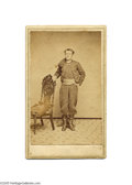 Photography:CDVs, Carte de Visite of 9th New York Zouave, Identified The 9th New York Volunteer Infantry was the first Union Zouave regiment t...