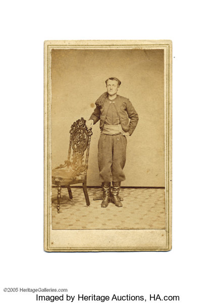 PhotographyCDVs Carte De Visite Of 9th New York Zouave Identified The