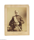 Photography:Studio Portraits, Spectacular Giant Signed Napoleon Sarony Photograph of William Tecumseh Sherman, Presented by Sherman's Daughter Napoleon Sa...