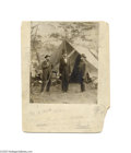 Photography:Studio Portraits, Abraham Lincoln in the Field at Antietam A 1912 silverprint that was used by the New York Times Sunday Pictorial Departm...