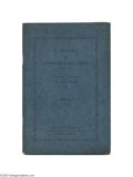 Antiques:Black Americana, A Fascinating, and Quite Scarce Confederate Memoir A 70-pagepamphlet in green wraps entitled A History of Lumsden's Batte...