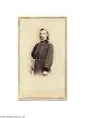 Military & Patriotic:Indian Wars, A Rare Brady Carte de Visite of Custer, in Superb Condition One of the best George Armstrong Custer images, by Brady's E. an...