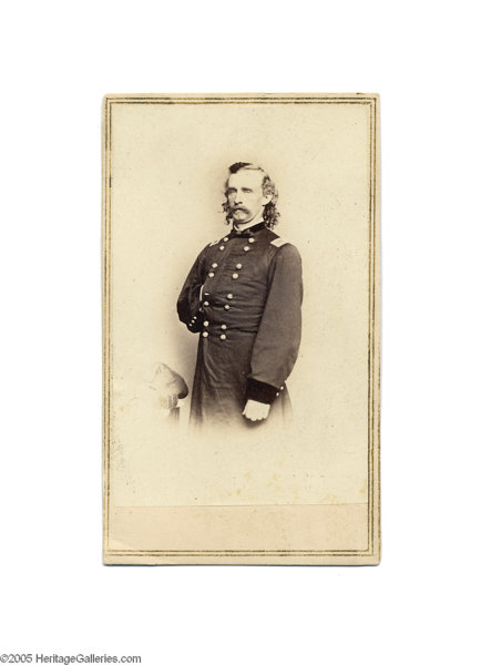Military PatrioticIndian Wars A Rare Brady Carte De Visite Of Custer