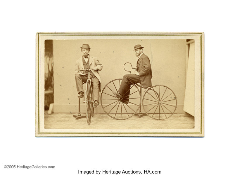 PhotographyCDVs Carte De Visite Of Two Men On Velocipedes In 1865 A New