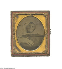 1/6th Plate Ambrotype Deathbed Photograph In the Victorian age, people often had photographs taken of their recently dec...
