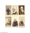 Photography:CDVs, Eleven CDVs of Authors -- Men and One Woman of Letters A great group of eleven (11) cartes de visite by various photographer...