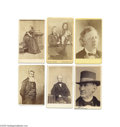 Photography:CDVs, A Passionate Cause: Six Portraits of Abolitionists Six (6) cartes de visite, various photographers and conditions, some wit...