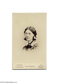 Photography:CDVs, Rare Carte de Visite of Florence Nightingale A rare carte photograph of Florence Nightingale by H. Lenthall, London. Nighti...