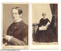 Photography:CDVs, Two Scarce and Important Cartes de Visite of Laura Bridgman Laura Bridgman, 1829-1889, the first blind and deaf person to be...