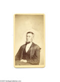 Photography:CDVs, Spirit-photograph Carte-de-Visite of John Nesbit A rare spirit-photograph by Mumler. This subject is identified as John Nes...