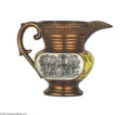 Political:3D & Other Display (pre-1896), General Lafayette Copper Luster Pitcher This attractive style was manufactured in England for the American market. They are...