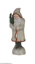 Antiques:Candy Containers, Classic Santa Candy Container in a Large Size This candy container portrays the wise old man in a white sparkled coat holdin...