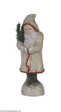 Classic Santa Candy Container in a Large Size This candy container portrays the wise old man in a white sparkled coat ho...