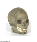 Antiques:Candy Containers, Small but Scary Halloween Candy Container This container is shaped as a skull, with lots of detail for added realism. Appro...