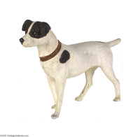 Magnificent Size Black and White Candy Container Dog This dog is made of plaster and papier mache is nearly the size of...