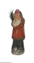 "Antiques:Candy Containers, Red Suited Santa Candy Container Standing 8 3/4"" tall and having anexcellent appearance this classic Santa held candy treat..."