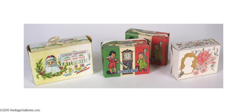 advertisingpaper items lot of seven early 1900s christmas candy boxes from a much - Christmas Candy Boxes
