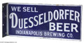 Advertising:Breweriana, Duesseldorfer Beer, Indianapolis Brewing Co. Sign Made of porcelainby OHayle -- Chicago, near mint condition, this rare, tw...
