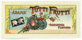 Advertising:Paper Items, 1890s Adams' Tutti Frutti Chewing Gum Box Label We would bet thatmost people don't realize that the leading villain in Texa...