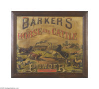 Early Barker's Powder Veterinary Sign This has become a serious area of collecting by animal lovers and veterinarians. T...