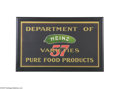 "Advertising:Signs, Early Embossed Heinz Advertising Sign Has the classic pickle logo in the center, 23.75"" x 13.25"", and is in very near mint c..."