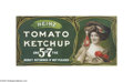 Advertising:Signs, Heinz Tomato Ketchup Advertising Sign Heinz Ketchup has long beenan American staple. Here in beautiful bold color we prese...