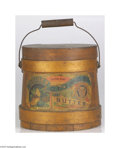 Advertising:Display Jars, Early Heinz Keystone Brand Quince Butter Wooden Bucket This bucket retains its original handle, lid and paper label. The pa...