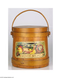 "Advertising:Tins, Beautifully Illustrated H. J. Heinz Mince Meat Wooden Bucket Withpaper label, approximately 10"" tall and in immaculate cond..."