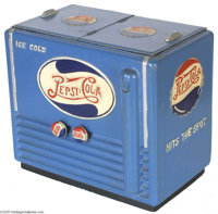 Rare Double Dot Pepsi Cola Radio Possibly a one-of-a-kind, this piece was reported by the owner to have been a gift to a...