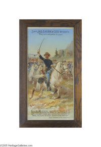 Rough Rider Themed Jas. S. Kirk & Co. Soap Advertising Sign A popular theme in advertising after the Spanish America...