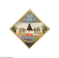 Advertising:Signs, Early Chocolate Brownie Advertising Candy Sign The sign is holed asmade at the top to hang it from a fan cord or on the wal...