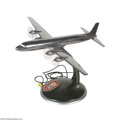 Transportation:Aviation, Aviation Treasure, Cuba Airways DC-4 Desk Lamp Complete and inworking order. The airplane appears to be cast metal with a ...
