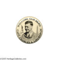 "Transportation:Aviation, One of the Nicest Aviator Charles Lindbergh Buttons We Have Seen Wecan't recall ever having had this elegant 1 1/4"" variet..."