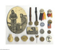 Transportation:Aviation, Important Collection of Aviation Pins Comprised of pins and a nicegrouping of watch fobs, this interesting collection inclu...