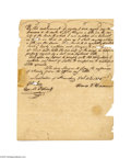 Autographs:Statesmen, Colonel James Morgan 1835 Texas Land Document A manuscript documentdated October 11, 1835 at Harrisburg, Pennsylvania in wh...