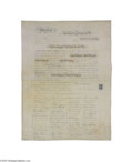 "Miscellaneous:Ephemera, 1864 Magarge and Ridgway Quaker Marriage Certificate Large,partially-printed document, completed by hand, 18.25"" x 24"", bei..."