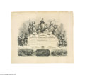 "General Historic Events:Expos, 1875 Centennial International Exhibition Stock Certificate Offeredhere is a stunning, large (24"" x 20"") stock certificate f..."