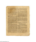 """Books:Periodicals, """"Pennsylvania Evening Post"""" Newspaper June 4, 1776 Offered here isan issue of this rare newspaper published exactly one mon..."""