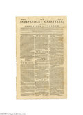 """Books:Periodicals, 1783 Philadelphia Newspaper """"The Independent Gazetteer"""" TheIndependent Gazetteer, or, The Chronicle of Freedom, March 1..."""