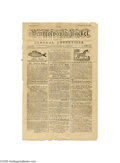 "Books:Periodicals, 1781 ""Pennsylvania Packet"" Revolutionary Era Newspaper Here is afine example of one of the earliest and most important Amer..."