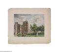 "Antiques:Posters & Prints, 1860 Birch Print ""Back of the State House, Philadelphia"" Offeredhere is an exquisite and rare hand-colored 1860 McAllister ..."