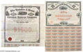 Miscellaneous:Ephemera, Pair of Great Texas Railroad Bonds Includes the following: 1.International Railroad Company-Texas railroad bond. Texas, ...