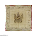 "Political:Textile Display (pre-1896), Rare Large 1820s Silk Bandana of Great Britain's King George IV""Successful in Arms, Liberal in Policy, Patron of the Arts,..."