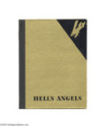 "Entertainment Collectibles:Movie, 1930 Howard Hughes' ""Hell's Angels"" Souvenir Book Quoting from thefirst page of the book, ""'Hell's Angels' is unquestiona..."