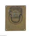 Political:3D & Other Display (1896-present), Teddy Roosevelt Sagamore Hill Brass Door Knocker Sagamore Hill at Oyster Bay, New York was the personal residence of Theodor...